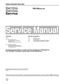 Manual de servicio Philips VR150 02