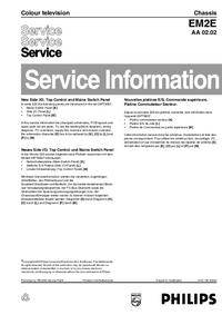 Supplément manuel de réparation Philips EM2E AA 02.02