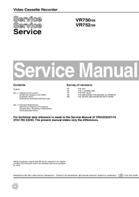Manual de servicio Philips VR750 39