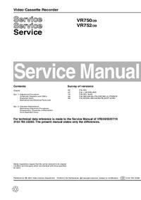 Manuale di servizio Philips VR750 39