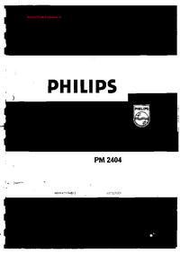 Manual de servicio Philips PM 2404