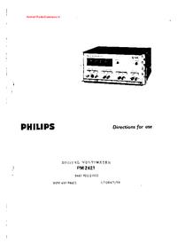 User Manual Philips PM 2421