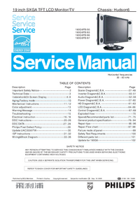 Service Manual Philips 190G6FB/93