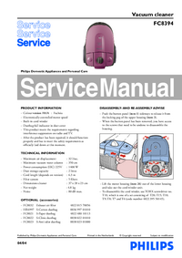 Service Manual Philips FC8394