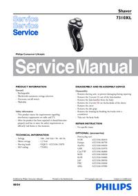 Servicehandboek Philips 7310XL