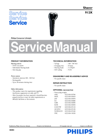 Service Manual Philips 912X