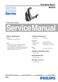 Manual de servicio Philips BG2030