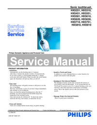 Servicehandboek Philips HX5710