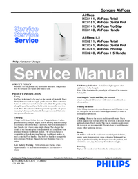 Manual de servicio Philips HX8111 AirFloss Retail