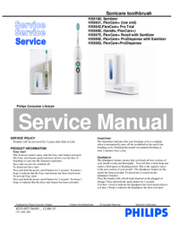Service Manual Philips HX6942 FlexCare+ Pro Trial