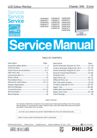 Service Manual Philips 190S6FS/27