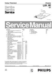 manuel de réparation Philips L01.1E AA