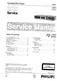 Service Manual Philips CD713