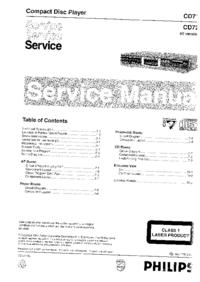 Manuale di servizio Philips CD713