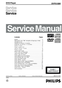 Service Manual Philips DVP5100K
