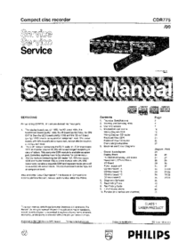 Service Manual Philips CDR775