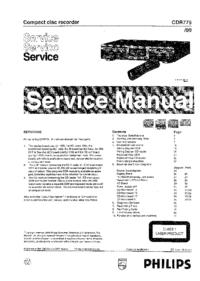 Serviceanleitung Philips CDR775