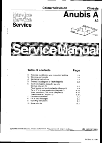 Service Manual Philips Anubis A