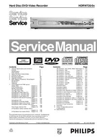 Manual de serviço Philips HDRW720