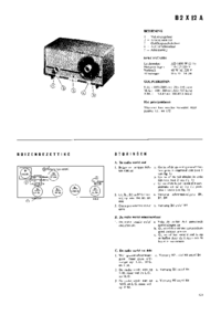Service and User Manual Philips B2X12A