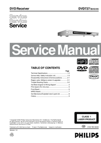 Manual de servicio Philips DVD 737 00