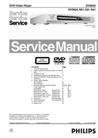 Manual de servicio Philips DVD625 051