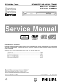 Manual de servicio Philips SDV442 021