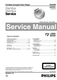 Service Manual Philips AX2301