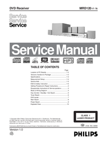 Service Manual Philips MDR120 78