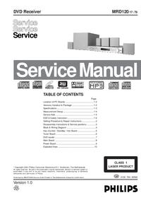 Руководство по техническому обслуживанию Philips MDR120 78