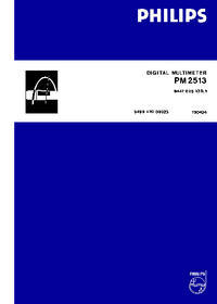 Service and User Manual Philips PM 2513