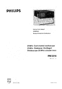 Service Manual Philips PM 3214
