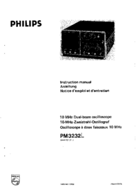 Service and User Manual Philips PM3232