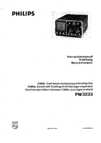 Service and User Manual Philips PM 3233
