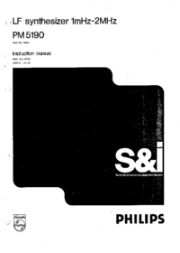 Service and User Manual Philips PM 5190