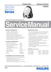 Service Manual Philips Impact-plus FC8381
