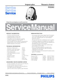 Manual de servicio Philips Impact-plus FC8381