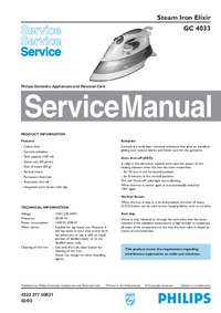 Service Manual Philips Elixir GC 4033