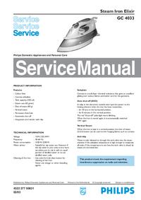 Manual de servicio Philips Elixir GC 4033