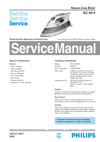 Service Manual Philips Elixir GC 4015