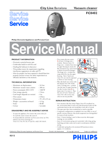Manual de serviço Philips City Line Barcelona FC8402