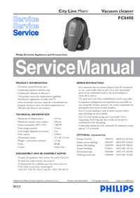 Servicehandboek Philips City Line Miami FC8400