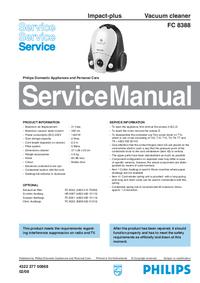 Servicehandboek Philips Impact-plus FC 8388