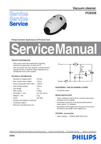 Manual de servicio Philips FC8338