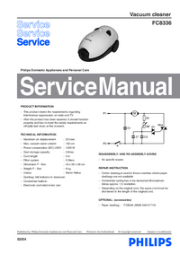 Manual de servicio Philips FC8336