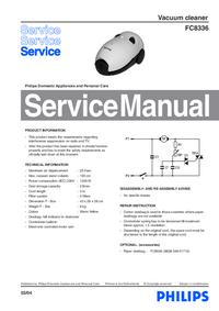Manuale di servizio Philips FC8336