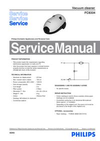 Servicehandboek Philips FC8334