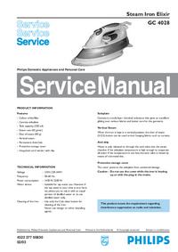 Manual de serviço Philips Elixir GC 4028