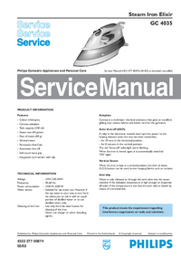 Manual de servicio Philips Elixir GC 4035