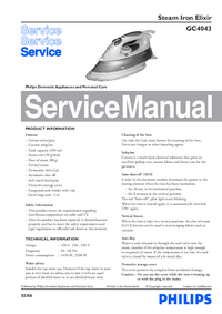 Service Manual Philips Elixir GC4043